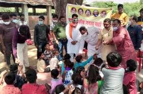 celebration : भाजपाइयों ने जरूरतमंदों की सेवा कर मनाई खुशियां