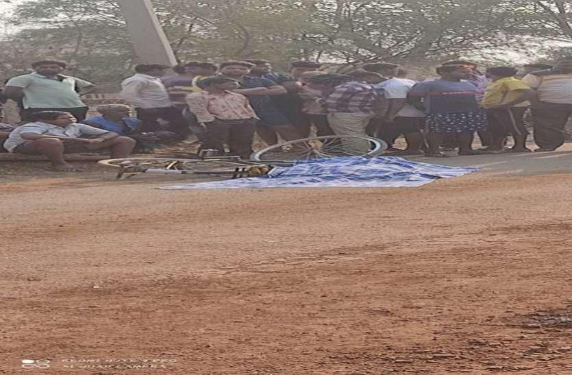 खैदा में सडक़ हादसे में बालक की मौत, ग्रामीणों ने जताया आक्रोश