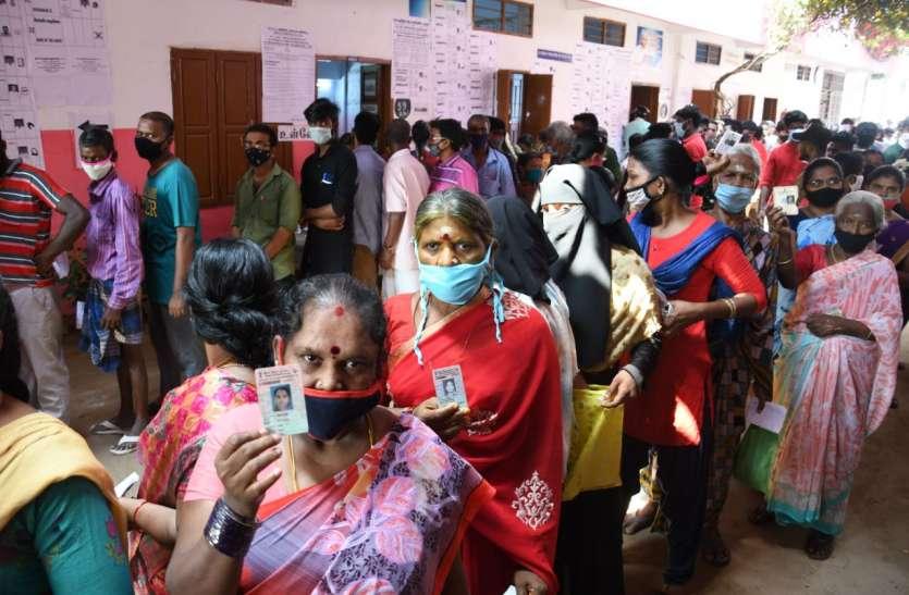 तमिलनाडु में 37 विधानसभा सीटों पर 80 प्रतिशत से अधिक मतदान