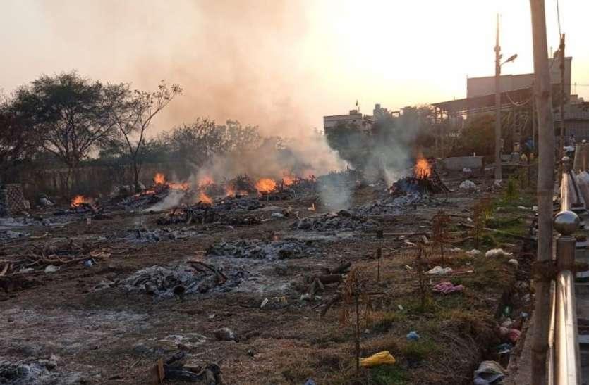 OMG रिसाली मुक्तिधाम में28 से अधिक शव का अंतिम संस्कार, धुंआ उठने से लोग हो रहे परेशान