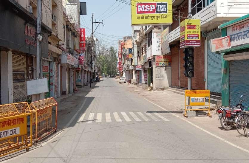 सख्त लॉकडाउन: शहर से लेकर गांव तक छाई वीरानी, बेवजह निकले लोगों पर प्रशासन-पुलिस ने की कार्रवाई