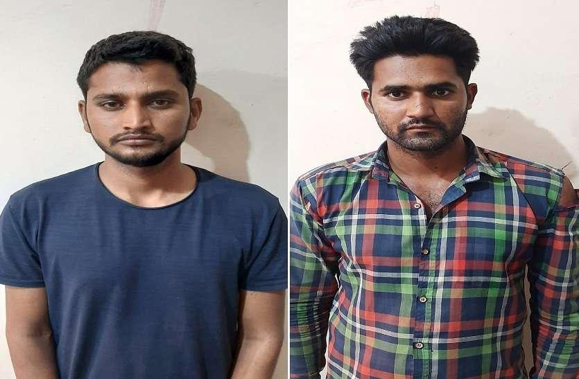 लोहे के गोदाम में चोरी करने वाले दो बदमाश गिरफ्तार