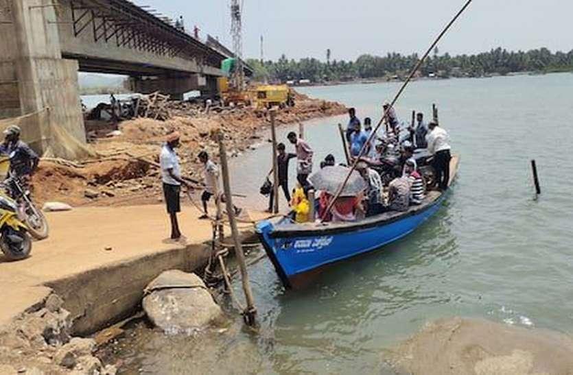 मानसून से पहले पुल बनकर तैयार नहीं हुआ तो नाव से ही करनी पड़ेगी नदी पार