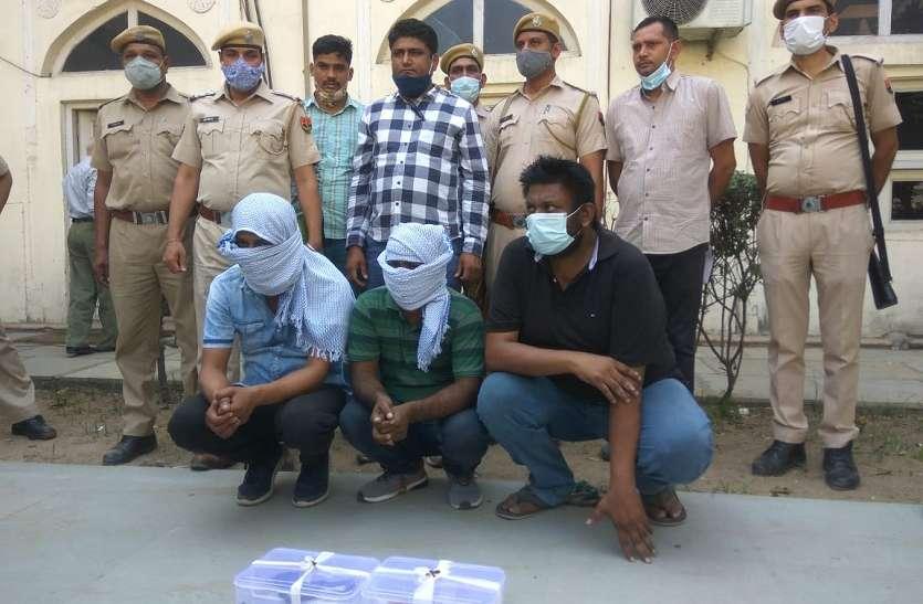व्यापारी और पेप्पीको कंपनी के एजेंट पर फायर कर रुपए लूटने वाले बदमाश गिरफ्तार