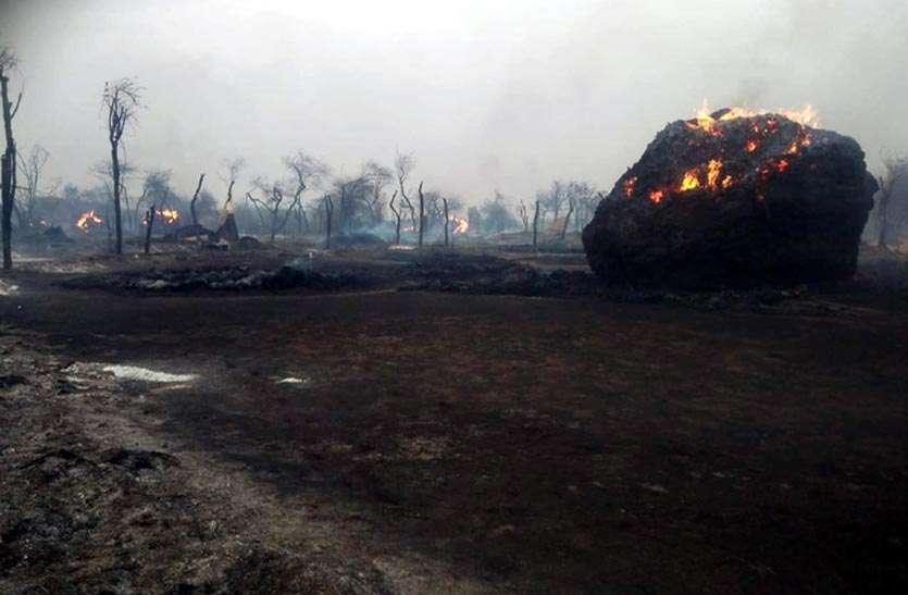 चौबीस घण्टे बाद पाया आग पर काबू, 5 करोड़ रुपए से अधिक का हुआ नुकसान