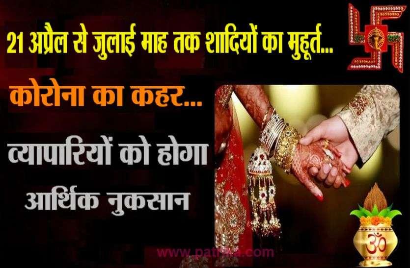 31 अप्रैल से शादी-ब्याह का शुभमुहूर्त, व्यापारियों को होगा आर्थिक नुकसान