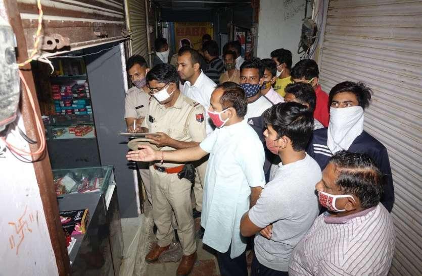 चोरों ने तीन दुकानों के तोड़े ताले, एक से ले गए माल