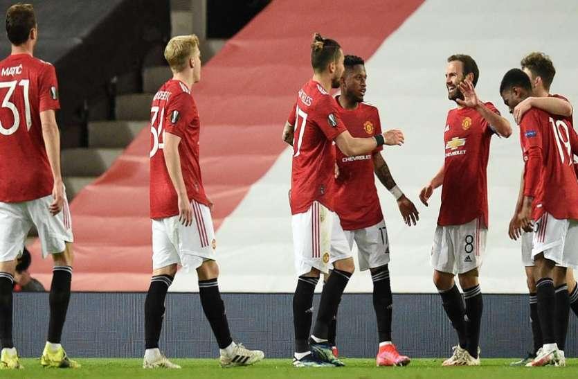 यूरोप लीग: मैनचेस्टर यूनाइटेड ने ग्रेनाडा को 2-0 से हराया, सेमीफाइनल में एएस रोमा से होगा मुकाबला