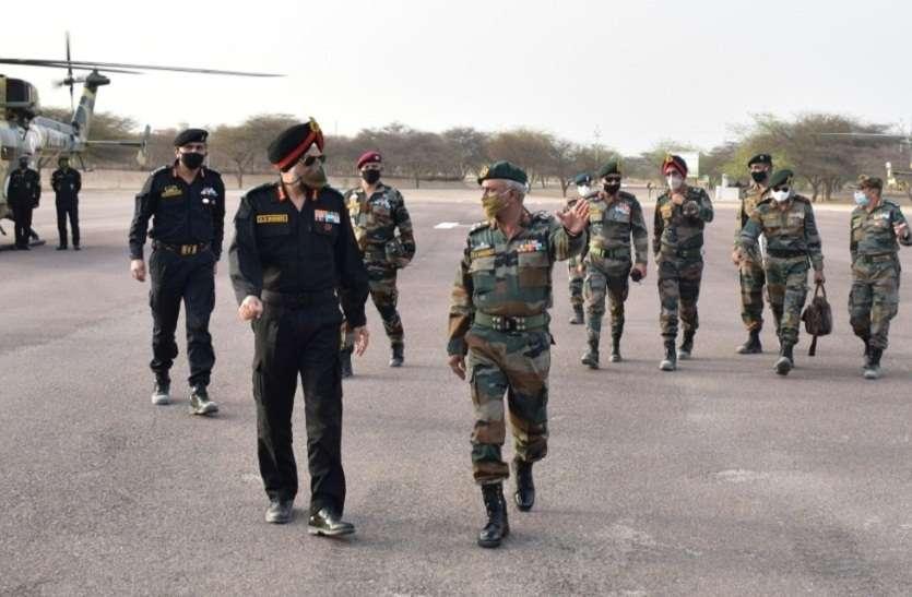 लेफ्टिनेंट जनरल भिंडर ने किया सुदर्शन चक्र डिवीजन का दौरा