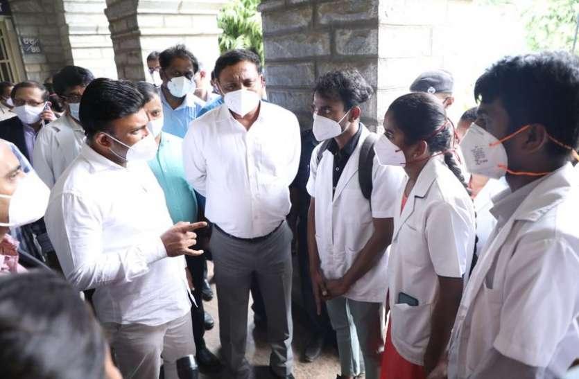 बेंगलूरु के अस्पतालों व सीसीसी में 6 हजार बिस्तर उपलब्ध