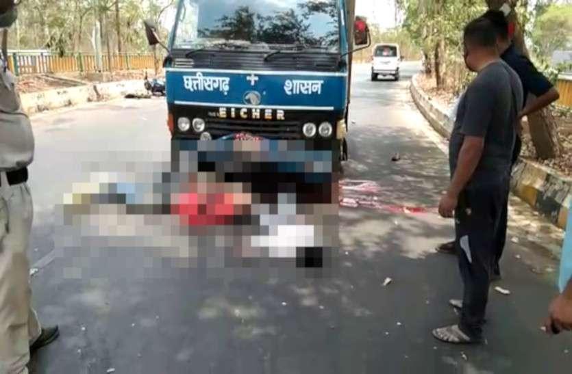 COVID-19 वैक्सीन लेकर आ रही वैन की बाइक से टक्कर, दो लोग गंभीर रूप से जख्मी