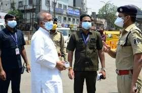 Lockdown in Raipur: लॉकडाउन का जायजा लेने निकले गृह मंत्री, पुलिस जवानों से कही ये बात