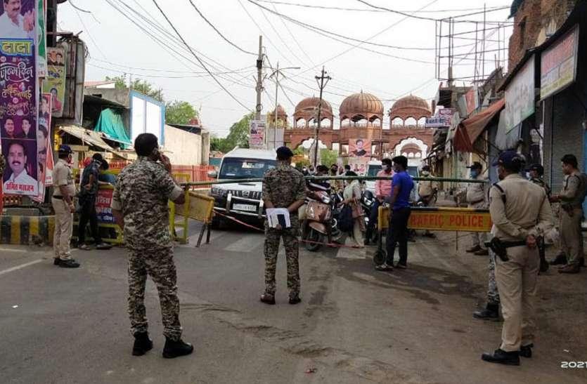 पुलिस ने की नाकाबंदी, दस स्थानों पर बनाए चैक पॉइंट