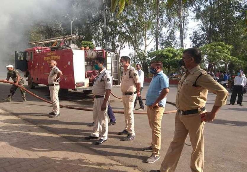 Firebrigade team of Ambikapur