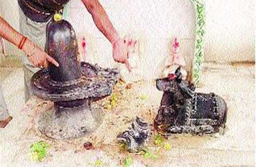 अराजकतत्वों ने तोड़ी शिव प्रतिमा, पुजारी ने त्यागा अन्न जल