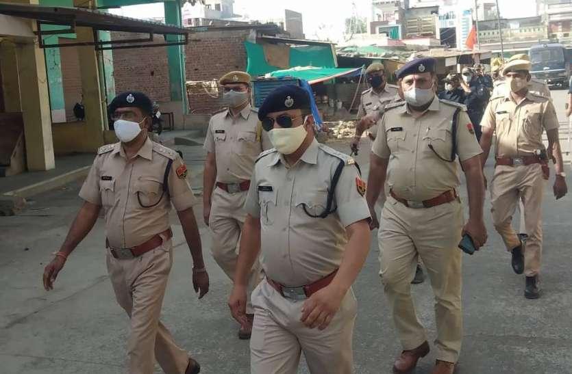 जिले भर में रूट मार्च निकाल एसपी ने लिया जायजा सालमगढ़ में निकाला रूट मार्च
