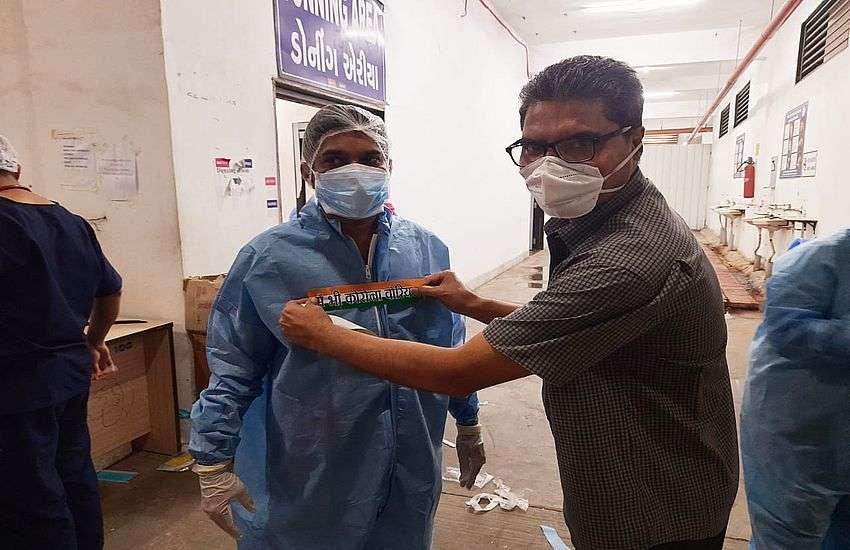 'हौसला' टीम से कोरोना मरीजों के परिजनों का मनोबल मजबूत किया