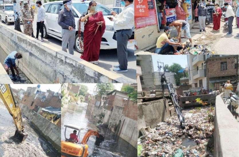 शहर में चला विशेष नाला सफाई अभियान, कई जगह मौके पर नजर आए नगर आयुक्त