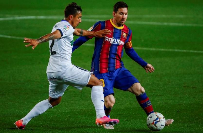 La Liga,Barcelona vs Getafe:  गेटफे को 5-2 से हराकर तीसरे नंबर पर आई बार्सिलोना