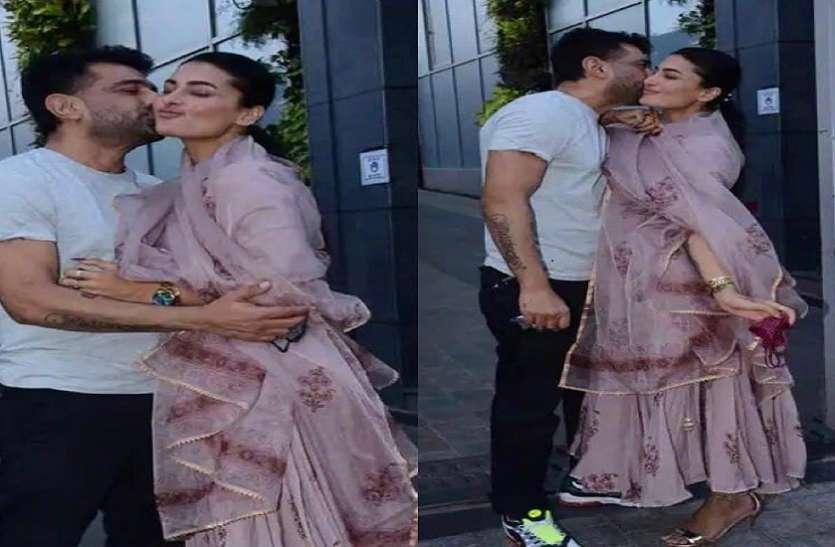 गर्लफ्रेंड पवित्रा पुनिया के बर्थडे पर एक्साइटेड एजाज खान ने किया सबके सामने Kiss