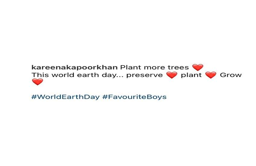 Kareena Kapoor Khan World Earth Day Message