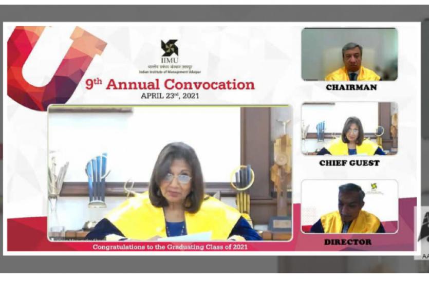 IIM-Udaipur Annual convocation: Kiran Mazumdar said - need to rethink the future