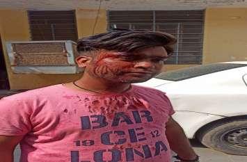रंगदारी का विरोध करने पर दुकानदार पर तलवार से हमला, घायल