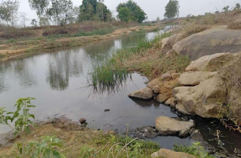 फिल्टर प्लांट से निकलने वाले दूषित पानी से कनई नदी का अस्तित्व खतरे में
