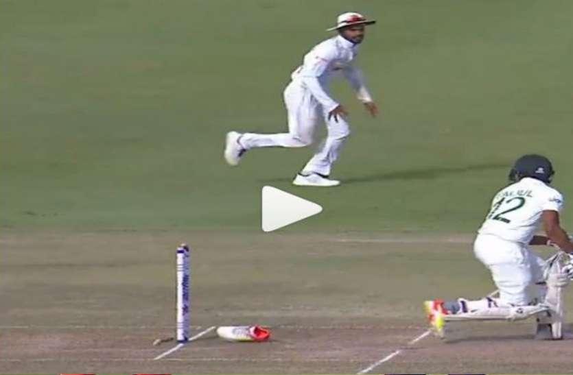 श्रीलंका और बांग्लादेश के बीच दूसरे टेस्ट मैच में हुई ऐसी अजीबोगरीब घटना, वीडियो वायरल
