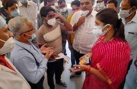 जीतते ही राजसमंद विधायक दीप्ति पहुंचीं जिला अस्पताल