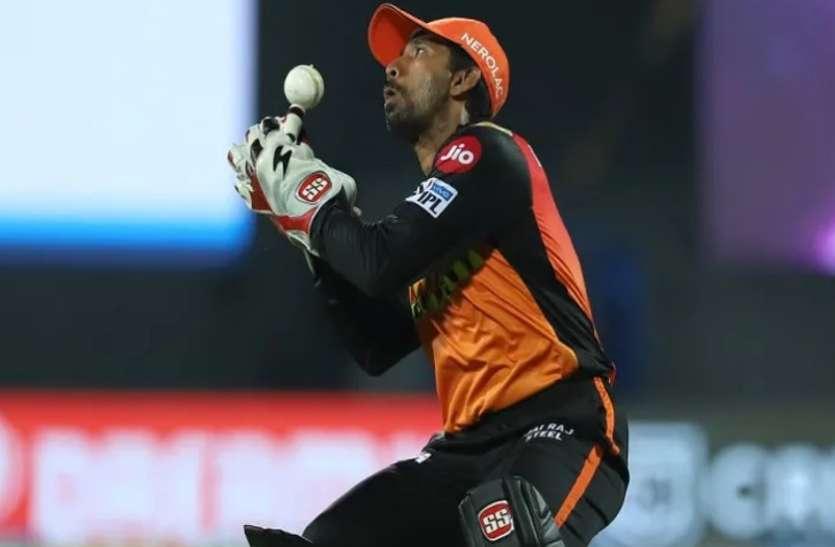 IPL 2021 : सनराइजर्स हैदराबाद के विकेटकीपर साहा कोरोना पॉजिटिव