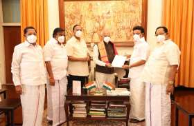 राज्यपाल बनवारीलाल से मिले DMK प्रमुख एमके स्टालिन, तमिलनाडु में सरकार बनाने का दावा पेश किया