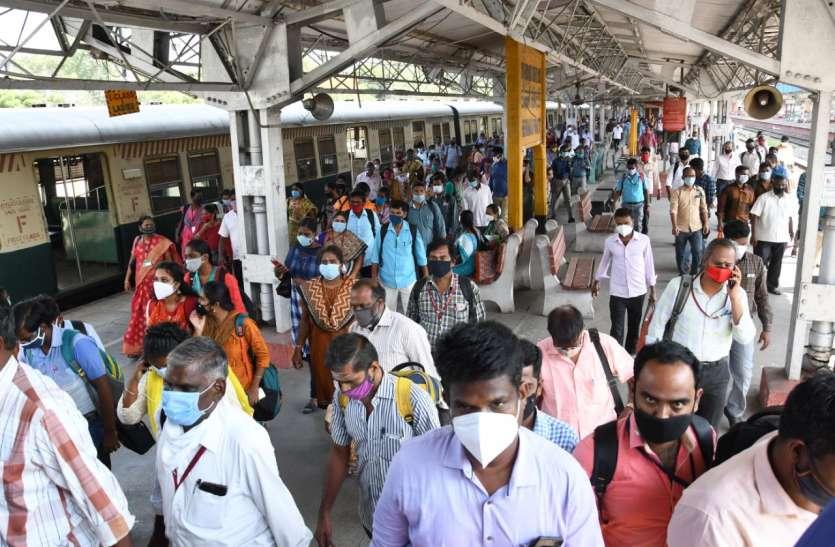 चेन्नई: उपनगरीय ट्रेनों में केवल फ्रंटलाइन वर्कर्स को यात्रा की अनुमति