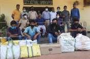 10 लाख की अवैध कफ सिरप व नशीली दवाइयों के साथ 5 युवक गिरफ्तार, एक निकला कोरोना पॉजिटिव