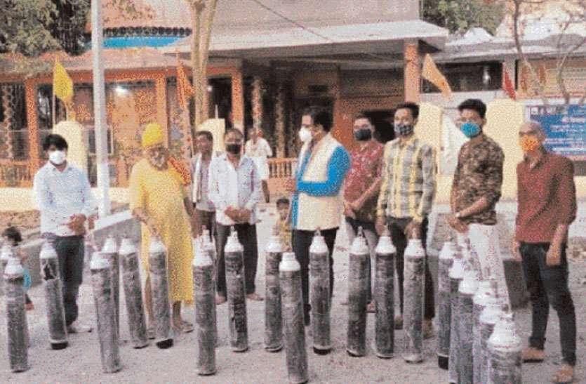 oxygen cylinder bank: देश का पहला ग्रामीण ऑक्सीजन सिलेंडर्स बैंक