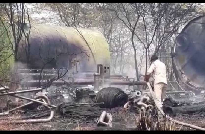 Fire in meerut पराग डेयरी के प्लांट में भीषण आग