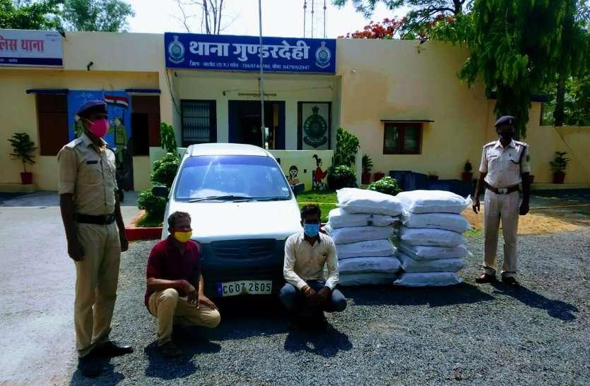 कार की डिक्की से 12 बोरी गुटखा बरामद, पुलिस ने रोका तो हड़बड़ाया ड्राइवर, 84 हजार का पान मसाला जब्त