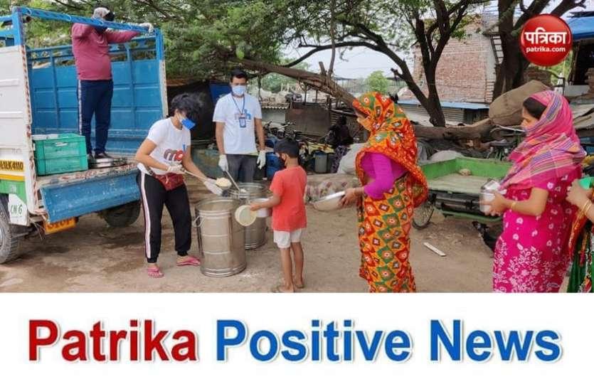 Patrika Positive News : जरूरतमंदों को भोजन के साथ मनोबल बढ़ाने का मंत्र पहुंचा रही हैं प्रियंका