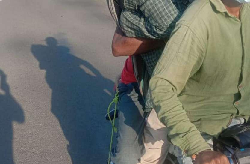 बाइक से शव ले जाने के मामले में बैठाई जांच