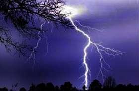 पेड़ पर गिरी बिजली, दो की मौत
