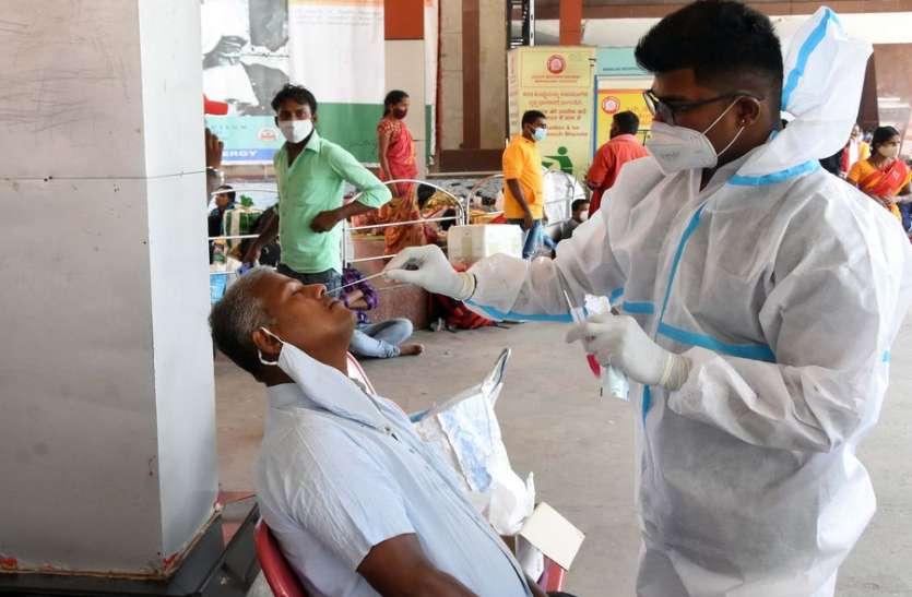कर्नाटक में चौबीस घंटे में 35,297 नए संक्रमित