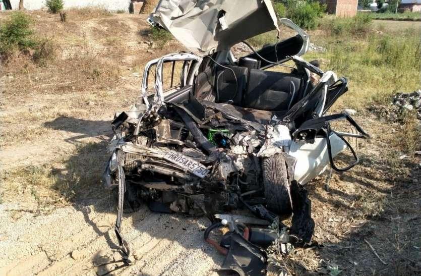 मुजफ्फरनगर में भीषण सड़क हाद्सा कार सवार तीन की मौत दो की हालत गंभीर
