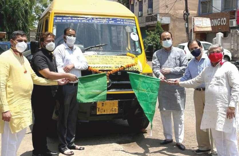 पीडि़त मानवता की सेवा के लिए जबलपुर में दौडेगी   एम्बुलेंस-बस