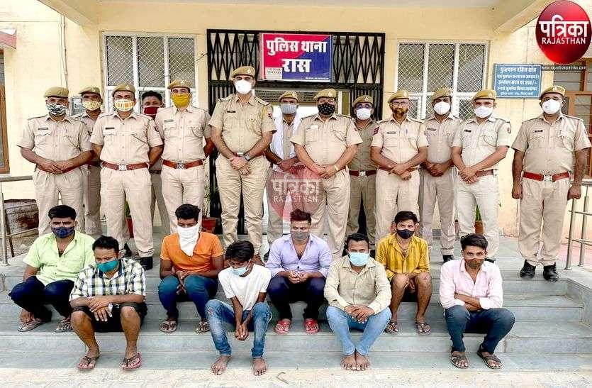 पाली : श्मशान में खेल रहे थे जुआ, पुलिस ने दी दबिश, आठ जने गिरफ्तार