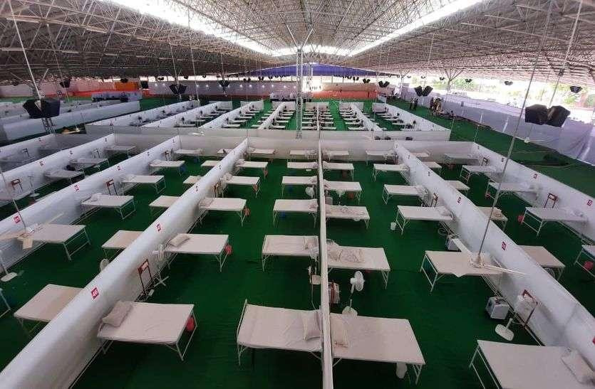 Jaipur कोविड केयर सेंटर पर सुविधाएं बढ़ाने की तैयारी
