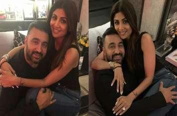 शिल्पा शेट्टी और कोरोना संक्रमित पति राज कुंद्रा का शीशे के आर-पार का रोमांस