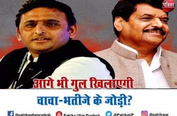 UP Politics : बीजेपी के लिए चुनौती बन सकती है चाचा-भतीजे की जोड़ी