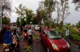 आंधी तूफान के साथ झमाझम हुई बारिश, पेड़ टूटने से आवागमन हुआ बाधित