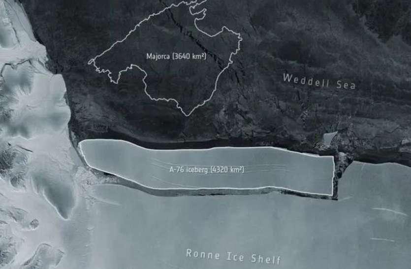 अंटार्कटिका में टूटा दुनिया का सबसे बड़ा बर्फ का पहाड़, जानिए क्या है इसका आकार