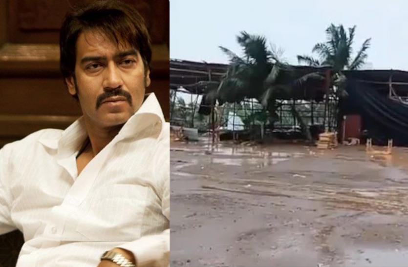 ताउते तूफान ने अजय देवगन की मूवी 'मैदान' के सेट को पहुंचाया नुकसान